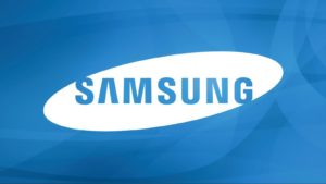 Samsung Logo Wallpaper Blue Colour